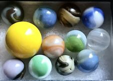 Lot of 12 Glass Marbles~Assorted Designs & Colors
