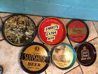 6 vintage beer trays Arrow, Ehrets, Congress, Barbey's, Camden & Edel.
