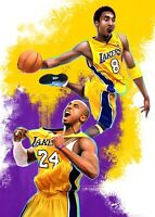 KOBE BRYANT BLACK MAMBA VINTAGE POP ART PRINT 8x10  🏀 LOS ANGELES LAKERS