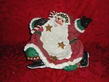Fitz and Floyd Essentials Santa Candy Dish Bowl