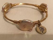 Bourbon And & Boweties Little Ladies Size Pearl Gold Bangle Bracelet Child's