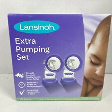 New listing Lansinoh 1 Set Of Double Electric Pumping Bottles, Flanges & Tubing
