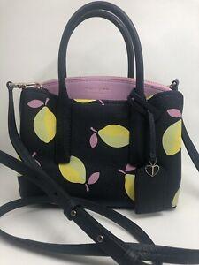 KATE SPADE new york Margaux Mini Satchel Bag - Multi Color Lemons Blue Purple