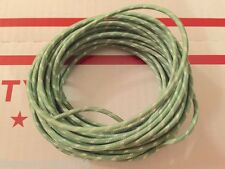 Harley Cloth Covered Green 16 ga Wiring Wire 25 Ft. Knucklehead Panhead