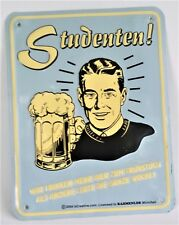 Vintage Retro Tin Metal German Art Beer Bar Sign Man Cave Studenten
