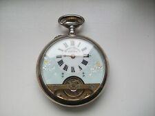 Antike Hebdomas Taschenuhr mit 8 Tage Werk Silber,Punze GGG 925 um 1880