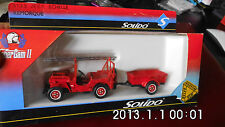 jeep echelle remorque  sapeurs pompiers  solido  3133-neuf boite