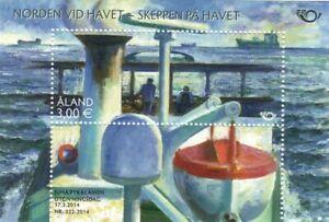 Nordia Ships at Sea Boat Fine Art Painting Nautical Aland Finland Mint MNH 2014