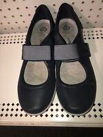 Clarks Cloudsteppers Sillian Bella Womens Leather Mary Janes Shoes Size 10 Blue