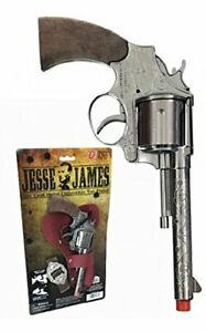 Jesse James Cap Gun Pistol & Holster Set Kid's Toy New Free Shipping Parris Mfg.