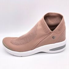 Bzees Womens Romance Ankle Boots Pink Knit Mesh Low Shaft Pull Ons 10 W