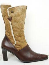 HÖGL 💕 Damen Stiefel Gr. 38,5 (5,5) Echteder Boots Woman Schuhe
