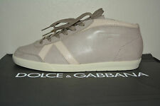 NIB DOLCE & GABBANA MENS VINTAGE LEATHER  SNEAKERS SZ US 9.5 EU 43.5 ITALY