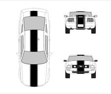 """Ford Mustang 2005- 2009 16"""" Vinyl Racing Stripes with .75"""" Pins Decal Kit"""
