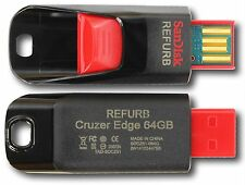 SanDisk SDCZ51-064G 64GB Cruzer Edge USB Black Red Flash Drive 64 GB SDCZ51 64G