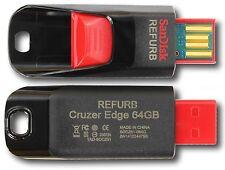 SanDisk SDCZ51-064G 64GB Cruzer Edge USB Black Red Flash Drive 64 GB SDCZ51 64G