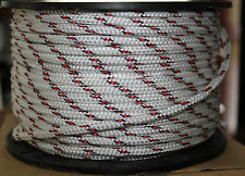 6mm x 100m Polyester Double Braid YACHT Rope Red/Black $15 FLAT POST AUST WIDE