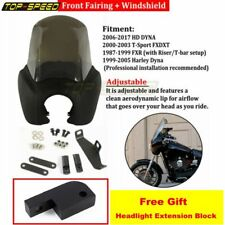 Motorcycle ABS Front Headlight Fairing Windscreen For Harley Dyna FXD T-Sport