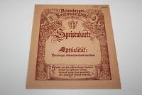 Vintage Restaurant Menu Auruberger Bratwurst Glockl am Dom Speisenkarte