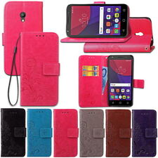 For Alcatel Pixi 4(5.0) 4G/OT5045X PU Leather Slot Wallet Cover Stand Flip Case