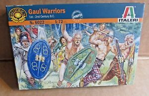 ITALERI GAUL WARRIORS 1:72 SCALE MODEL SOLDIERS 1ST - 2ND CENTURY B.C. FIGHTERS