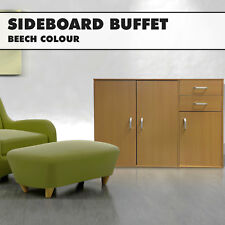 Beech Sideboard Buffet Hallway Cabinet Entrance Storage Kitchen Cupboard Dresser