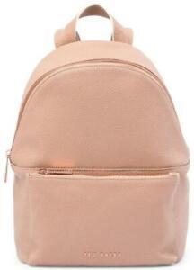 TED BAKER, Pearen Soft Grain Leather Backpack, Mink/Rose Gold