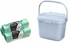 Addis Eco Recycled Plastic Kitchen Food Waste Compost Caddy bin 3 rolls liners