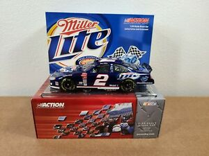 Autographed 2003 Rusty Wallace #2 Miller Lite 600th Consecutive Start 1:24 Car