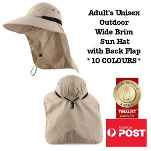 Wide Brim Outdoors Legionnaire Sun Protection Gardening Fishing Back Flap Hat