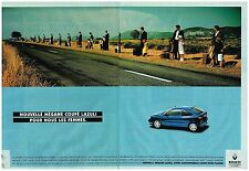 Publicité Advertising 1998 (2 pages) Renault Megane coupé Lazuli