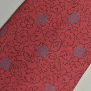 """Red Blue Floral Silk Tie 3.5"""" Wide 57"""" Long"""