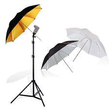 "Photo Studio Video Lighting Kit Flash Mount Umbrella Kit + 86"" Light Stand"