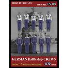 Tori Factory 1/72 GERMAN BATTLESHIP CREWS 10 figures Figure Model Kit FS-09
