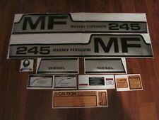 Massey Ferguson 245 tractor complete decal set