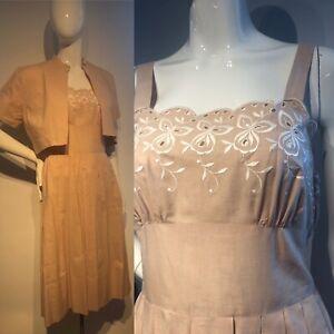 Vintage 1940s Summer Lawn Dress University Frock
