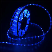 50FT LED Rope Light 110V In/Outdoor Xmas Decorative Party Lighting Wedding Blue