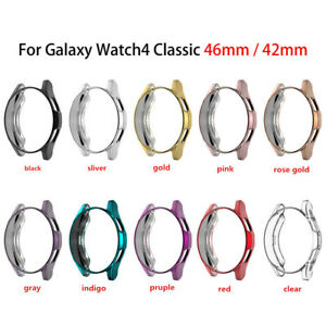 For Samsung Galaxy Watch 4 Classic 42mm 46mm Screen Protector Case Cover TPU