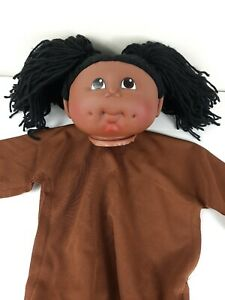 The Original Doll Baby Pre-sewn Black Doll Head with Body Fibre Craft Pig Tails