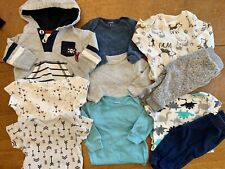 0-3 Months Baby Boy Clothing Lot Onesies Pants Sweatshirt Outfits Carter's