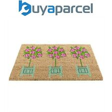 Gardman Rose Tree Topiary Coir Doormat PVC Backing Mat 82673 Indoor Outdoor