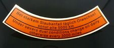 Volkswagen Restoration Decal Sticker Air Cleaner Label Early Bug and Bus