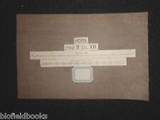 Vintage European Military? Folding Map c1880 of Horn (Austria) Zone 11, Col Xiii