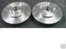 TOYOTA STARLET GLANZA EP91 EP82 CROSS DRILLED GROOVED BRAKE DISC REAR  ABS