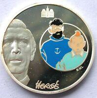 France 2007 TinTin 1-1/2 Euro Colour Silver Coin,Proof-C