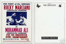 Muhammad Ali RARE Marciano ERROR Card