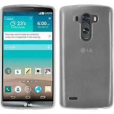 Coque en Silicone LG G3 - transparent blanc + films de protection