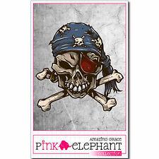 Aufkleber - Buddy Skull 11 - 9,5 cm x 9,5 cm - Totenkopf - Sticker bones Pirat