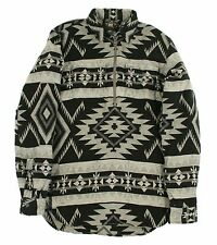 Ralph Lauren RRL Western Indian Flannel Half Zip Sweater Shirt M New $295