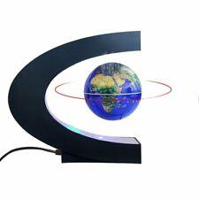 Magnetic Levitation Floating World Map Globe with C Shape Base (Dark Blue)